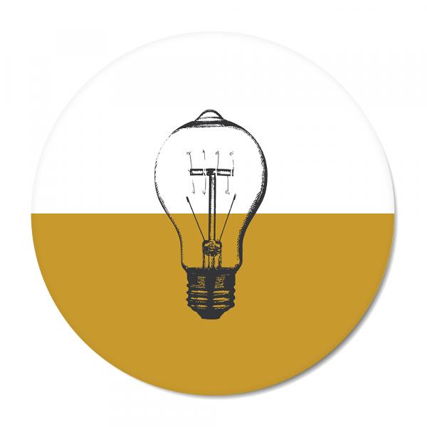 Cirkel - Vintage - bulb - oker