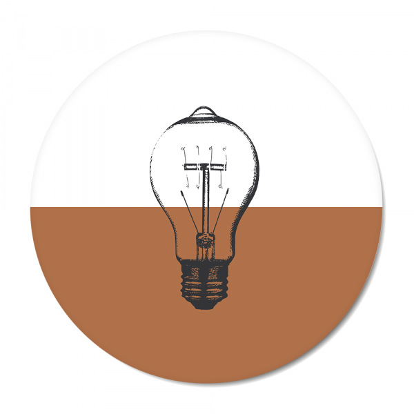 Cirkel - Vintage - bulb - roest