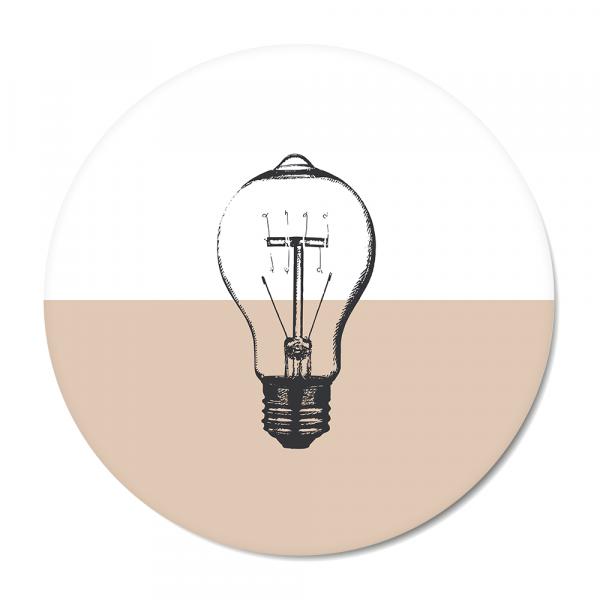 Cirkel - Vintage - bulb - roze