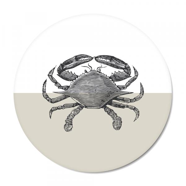 Cirkel - Vintage - crab - grijs