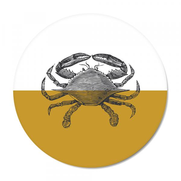 Cirkel - Vintage - crab - oker