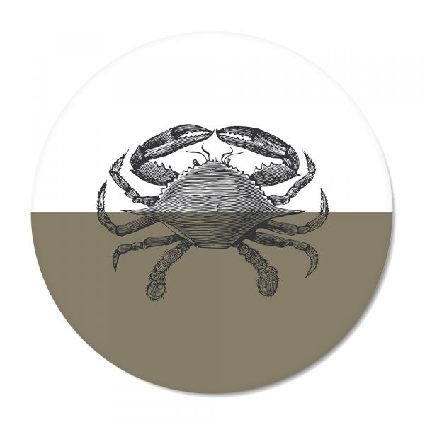 Cirkel - Vintage - crab - olijf