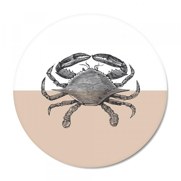 Cirkel - Vintage - crab - roze