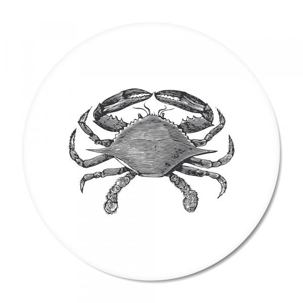 Cirkel - Vintage - crab - wit