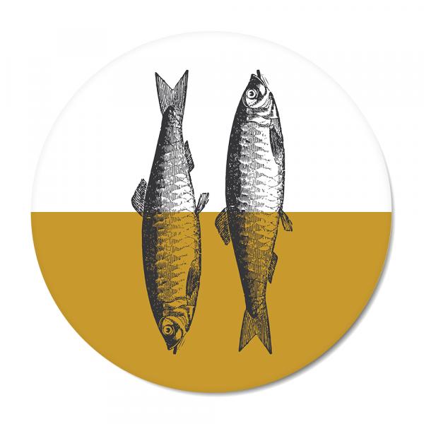 Cirkel - Vintage - fish - oker