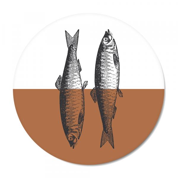 Cirkel - Vintage - fish - roest