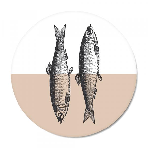 Cirkel - Vintage - fish - roze