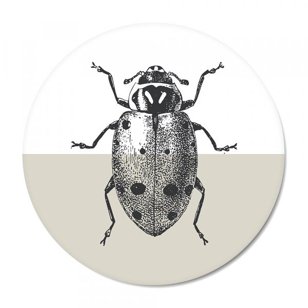Cirkel - Vintage - ladybug - grijs
