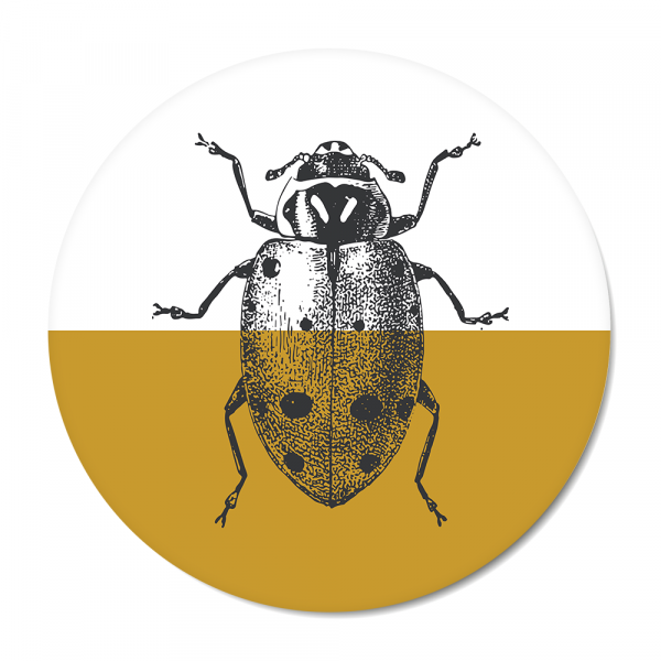 Cirkel - Vintage - ladybug - oker