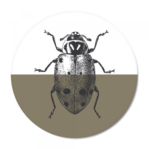 Cirkel - Vintage - ladybug - olijf