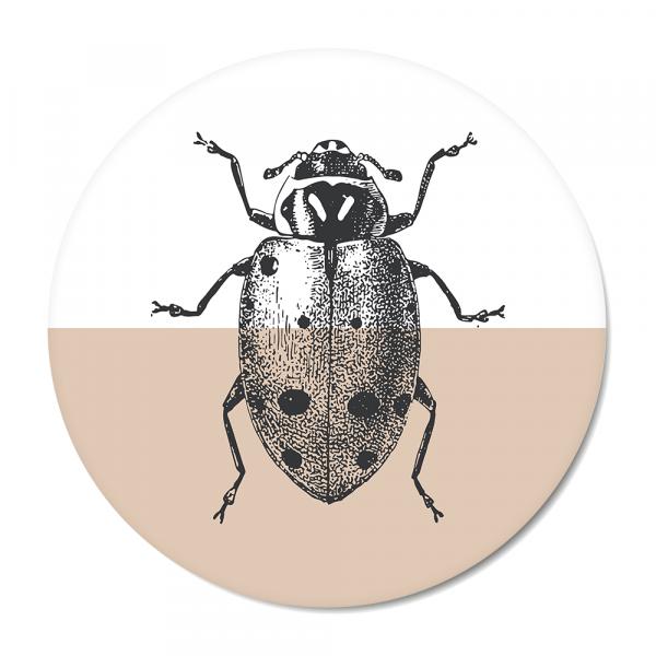 Cirkel - Vintage - ladybug - roze