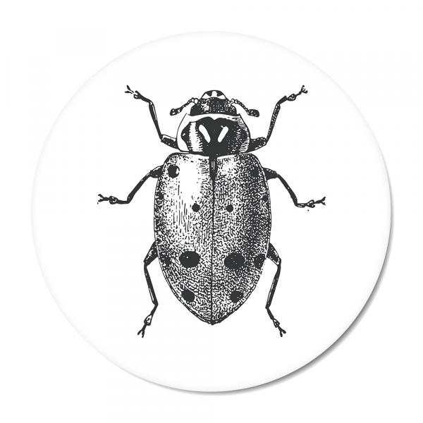 Cirkel - Vintage - ladybug - wit