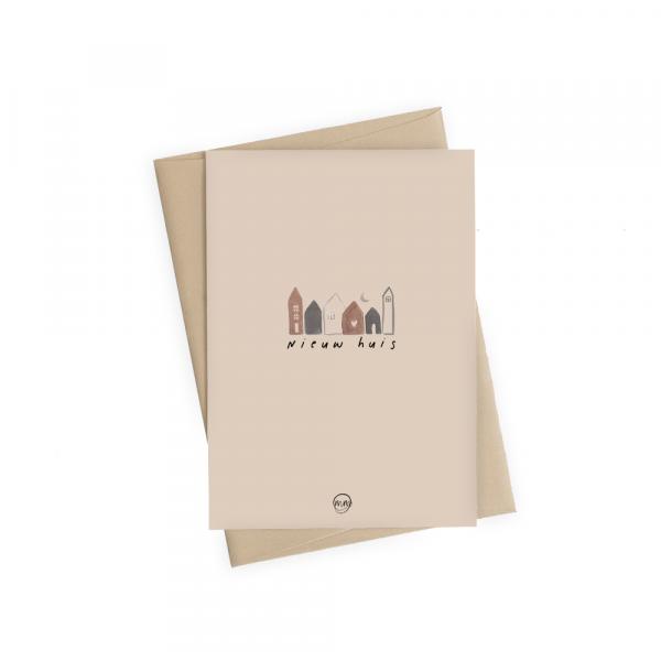 Kaart Nieuw huis en envelop